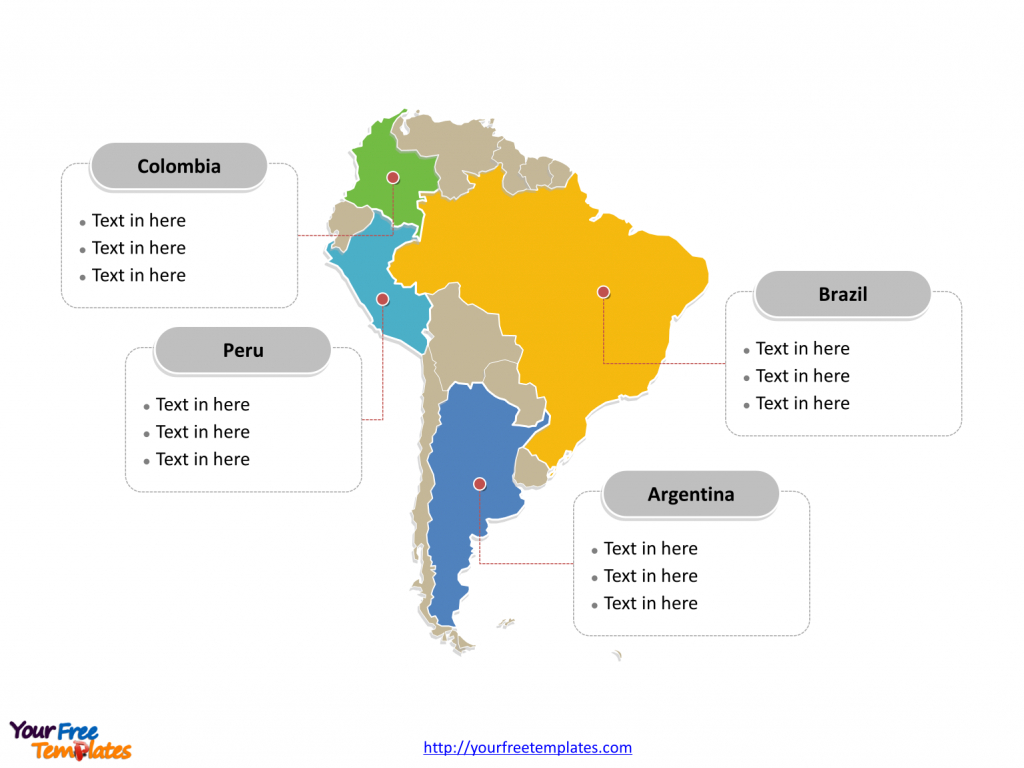South America Map Free Templates - Free Powerpoint Templates in Free Printable Map Of South America