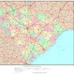 South Carolina Political Map Regarding Printable Map Of South Carolina