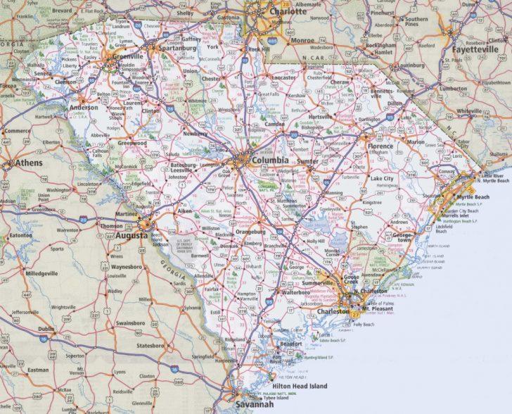 Printable Map Of South Carolina