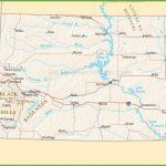 South Dakota Highway Map In Printable Map Of South Dakota