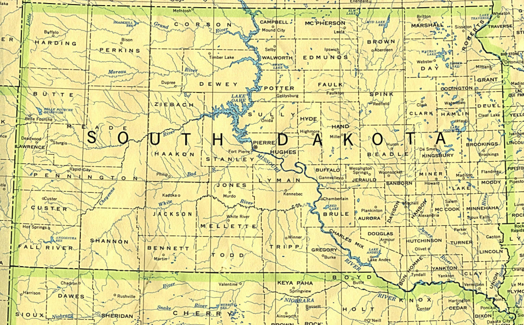 South Dakota Maps - Perry-Castañeda Map Collection - Ut Library Online with regard to South Dakota County Map Printable