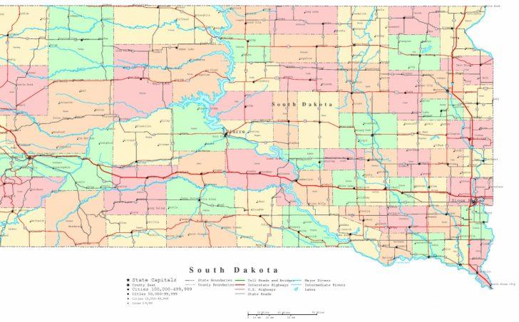 South Dakota County Map Printable