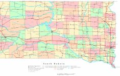 South Dakota Printable Map with regard to Printable Map Of North Dakota