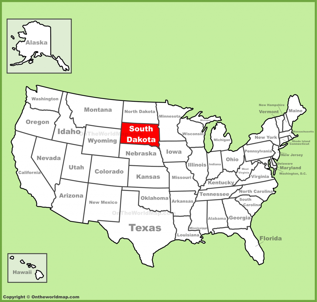 South Dakota State Maps | Usa | Maps Of South Dakota (Sd) with Printable Map Of South Dakota