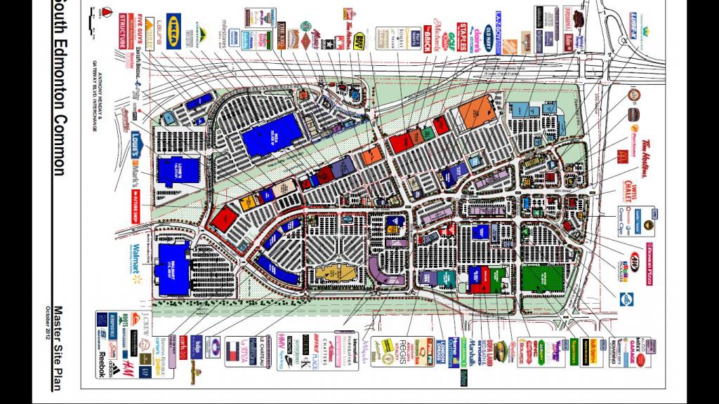 South Edmonton Common In Edmonton, Alberta - 169 Stores, Hours with regard to Printable West Edmonton Mall Map