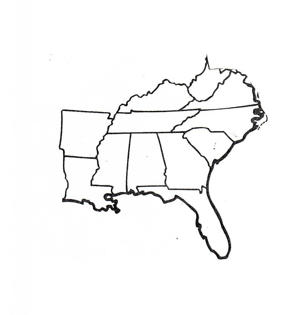 South Us Region Map Blank Save Results For Blank Map Southeast throughout Southeast States Map Printable