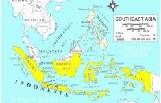 Southeast Asia Physical Map New Physical Features Map South Asia inside Printable Map Of Southeast Asia
