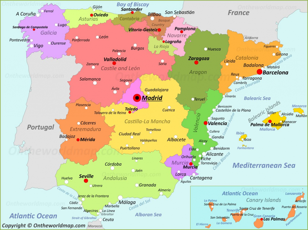 Spain Maps | Maps Of Spain in Printable Map Of Spain With Cities