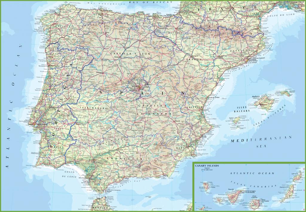Spain Road Map throughout Printable Map Of Spain
