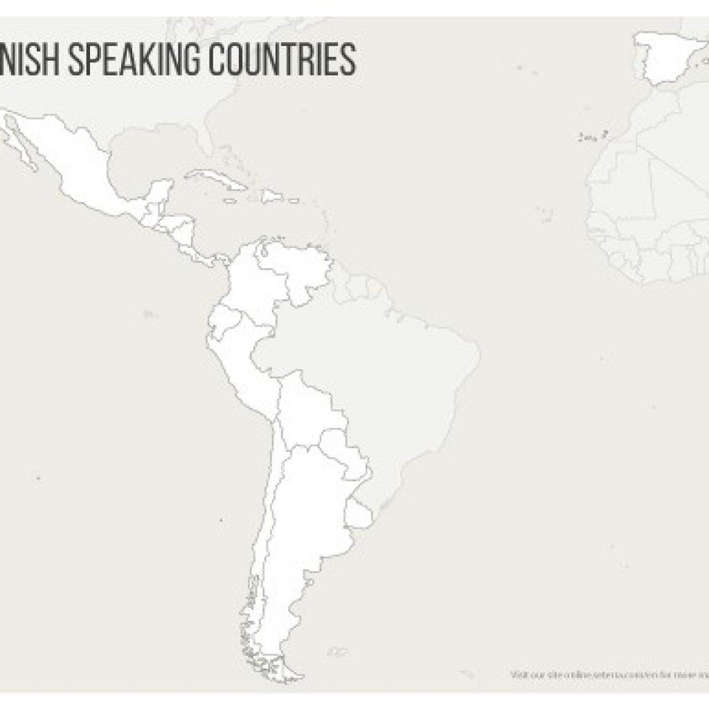 Spanish Speaking Countries Map Printables Quiz Game for Printable Map Of Spanish Speaking Countries
