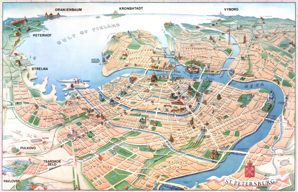 St Petersburg Russia Map - Petersburg Russia Map (Russia) within Printable Map Of St Petersburg Russia