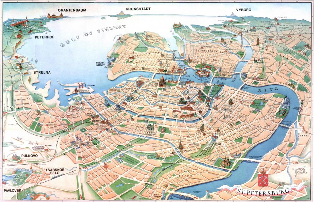 St Petersburg Russia Map - Petersburg Russia Map (Russia) within Printable Map Of St Petersburg Russia
