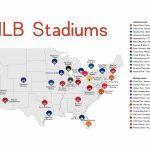 Stadium Map Stadium Checklist Baseball Stadiums Map Mlb | Ballpark With Printable Map Of Mlb Stadiums