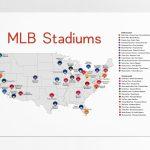 Stadium Map Stadium Checklist Baseball Stadiums Map Mlb | Etsy For Printable Map Of Mlb Stadiums