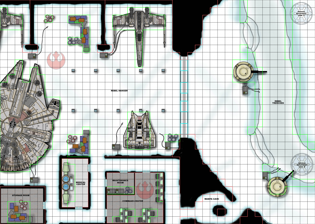 Star Wars Miniatures Scenarios intended for Star Wars Miniatures Printable Maps