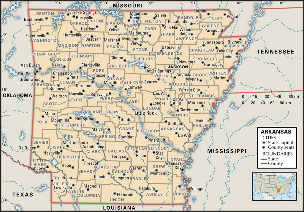 State And County Maps Of Arkansas with Printable Map Of Arkansas
