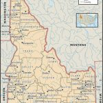 State And County Maps Of Idaho Within Printable Map Of Idaho