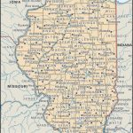 State And County Maps Of Illinois With Regard To Illinois State Map Printable