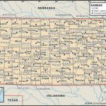 State And County Maps Of Kansas With Printable Map Of Kansas