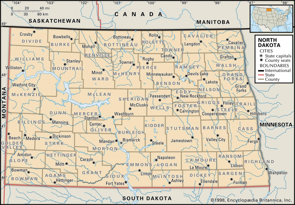 State And County Maps Of North Dakota within South Dakota County Map Printable