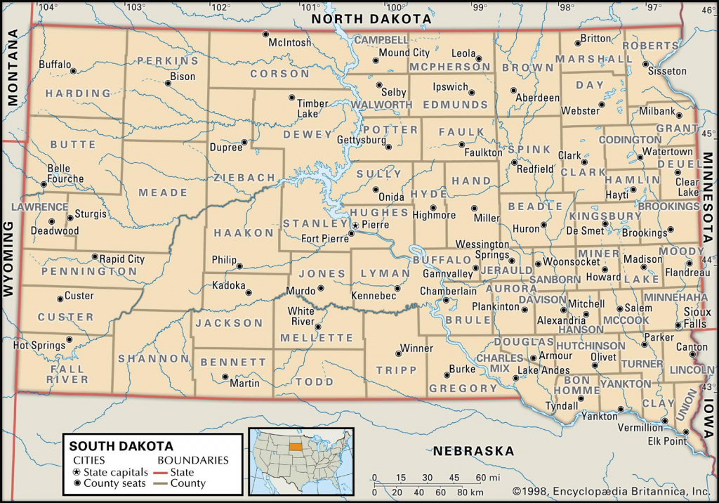 State And County Maps Of South Dakota pertaining to South Dakota County Map Printable
