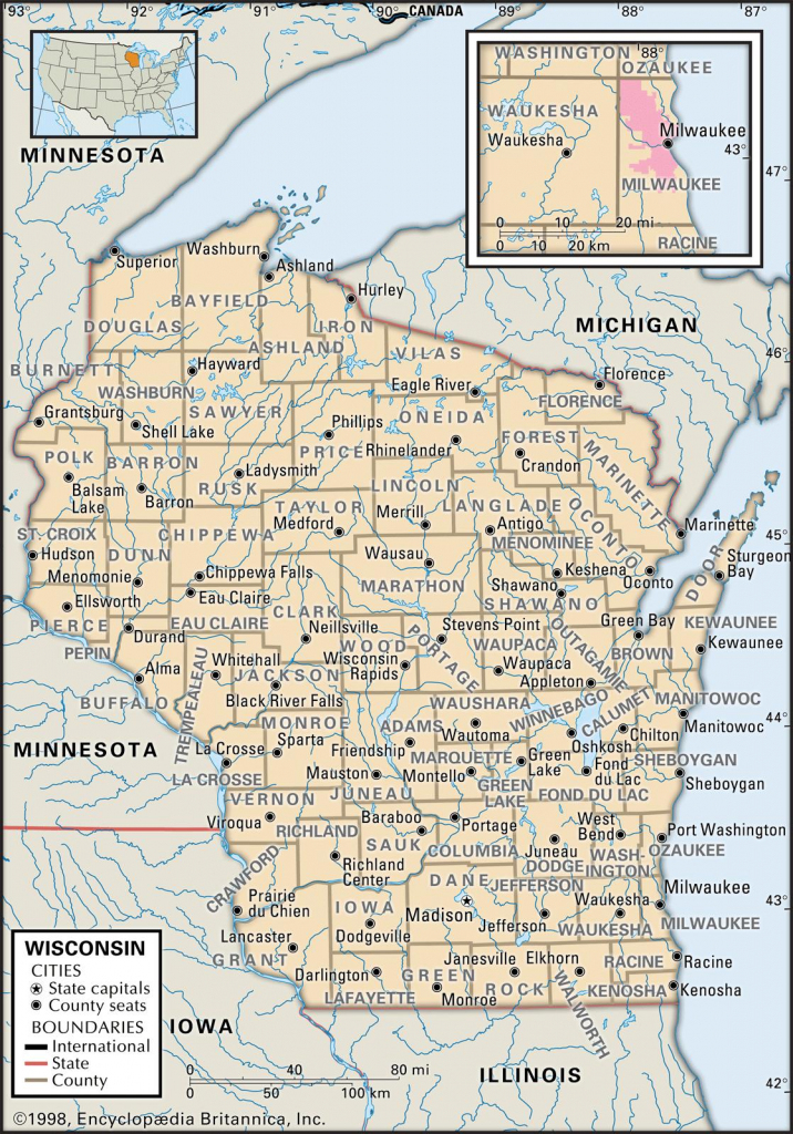 State And County Maps Of Wisconsin intended for Map Of Wisconsin Counties Printable