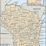 State And County Maps Of Wisconsin Pertaining To Wisconsin Road Map Printable