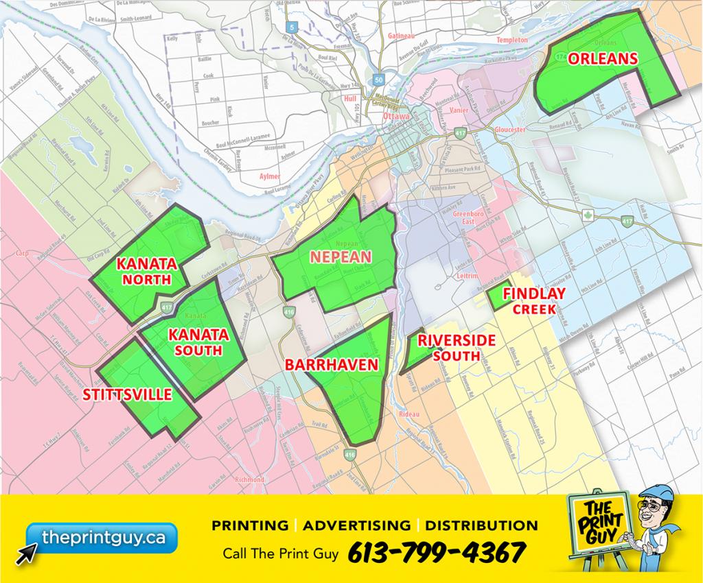 Stittsville Flyer Special - Theprintguy.ca inside Printable Map Of Ottawa