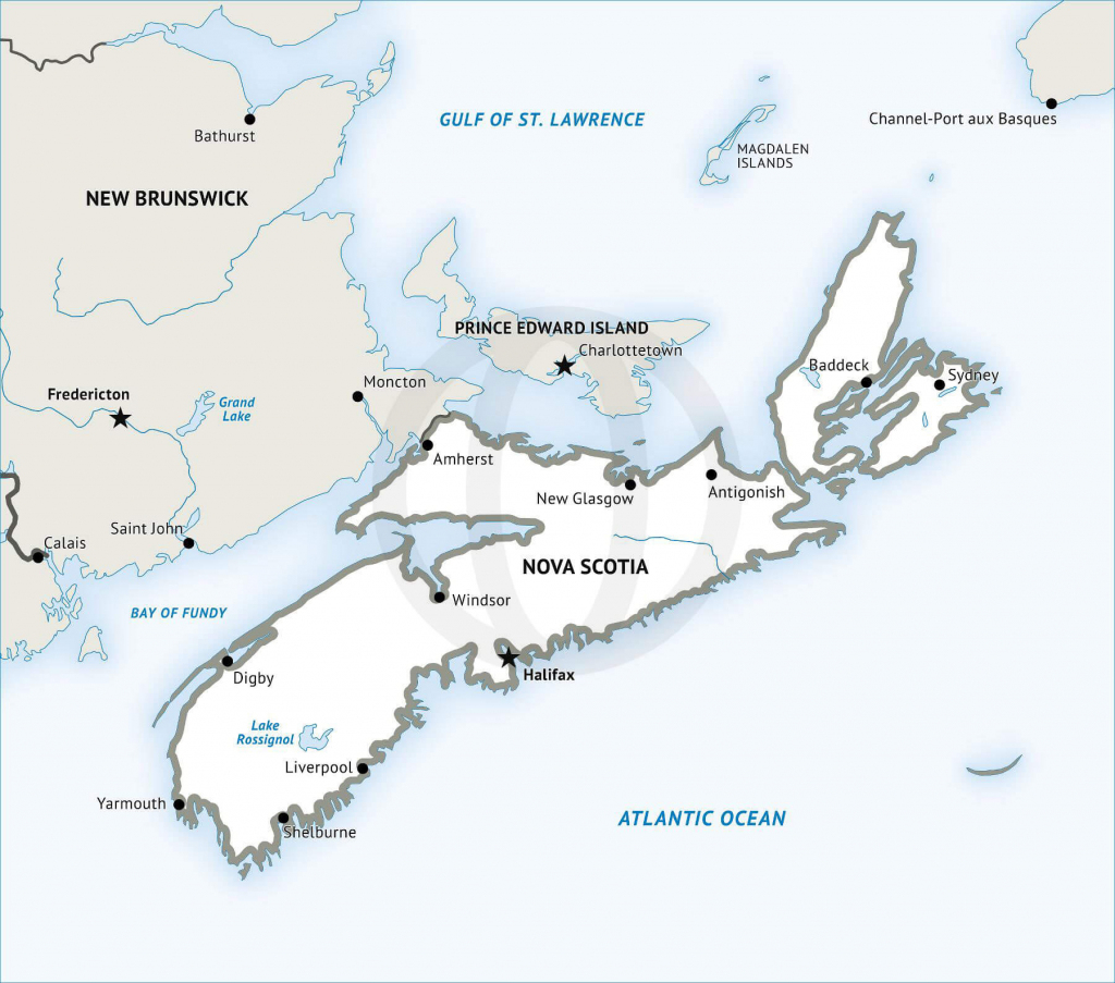 Stock Vector Map Of Nova Scotia | One Stop Map in Printable Map Of Nova Scotia
