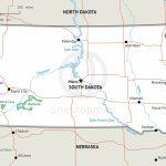 Stock Vector Map Of South Dakota | One Stop Map In Printable Map Of South Dakota