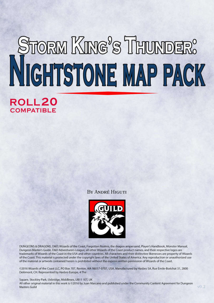 Storm King's Thunder: Nightstone Map Pack - Dungeon Masters Guild for Storm King's Thunder Printable Maps