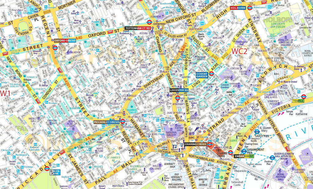 Street Map Central London - Hoangduong within Printable Street Map Of Central London