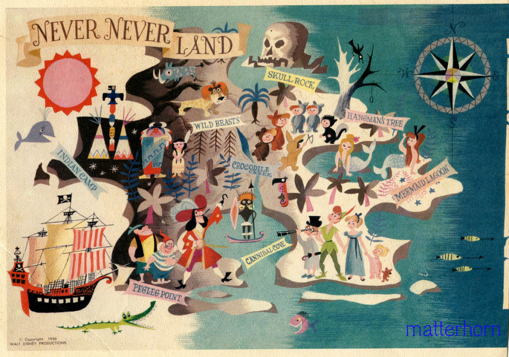 Stuff From The Park: Souvenir Friday- Map Of Never Never Land throughout Neverland Map Printable