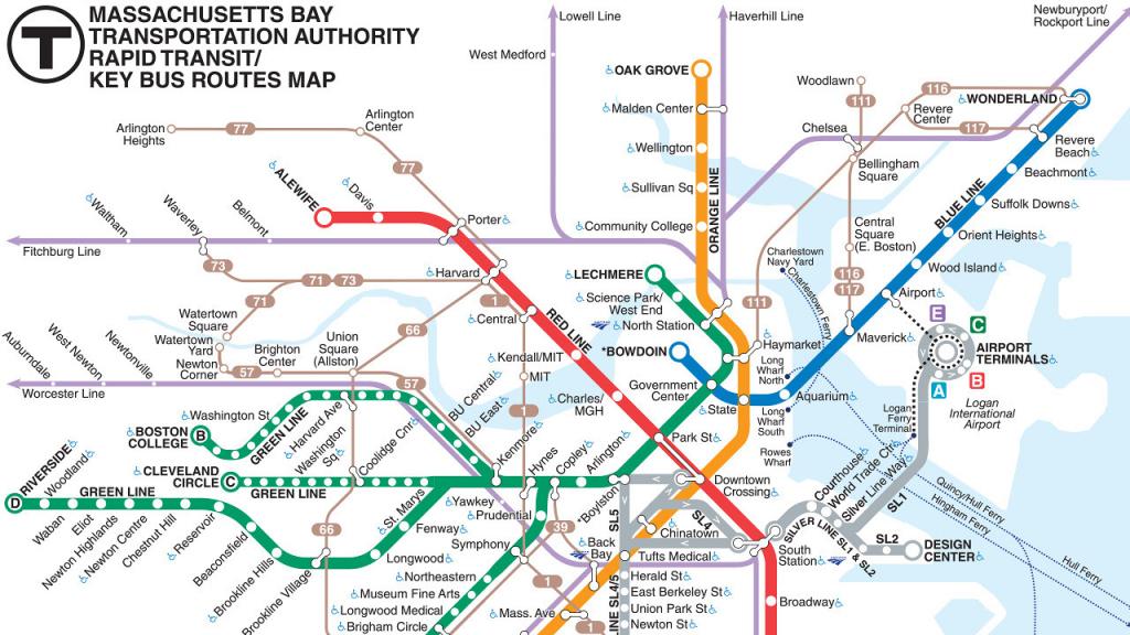 Subway Map Boston Ma | Time Zones Map pertaining to Mbta Subway Map Printable