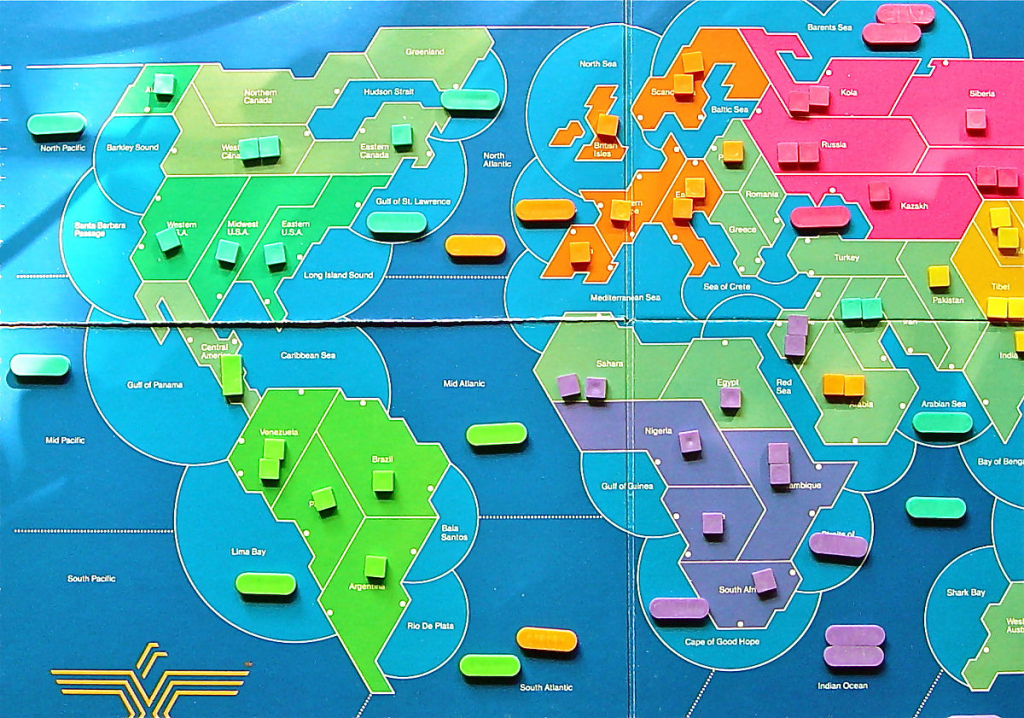Supremacy (Board Game) - Wikipedia intended for Risk Board Game Printable Map