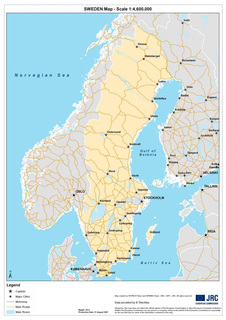 Sweden Maps | Printable Maps Of Sweden For Download regarding Printable Map Of Sweden