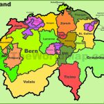 Switzerland Political Map Throughout Printable Map Of Switzerland