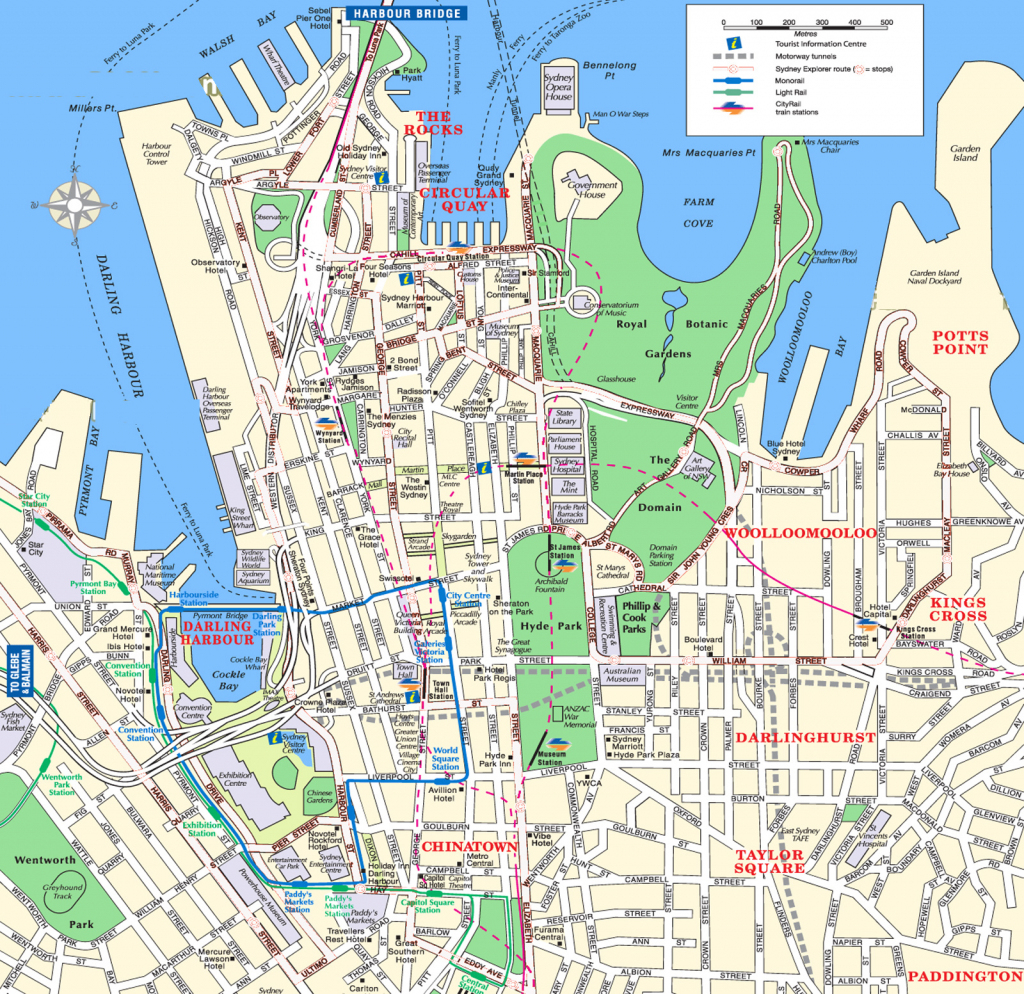 Sydney Attractions Map Pdf - Free Printable Tourist Map Sydney within Sydney City Map Printable