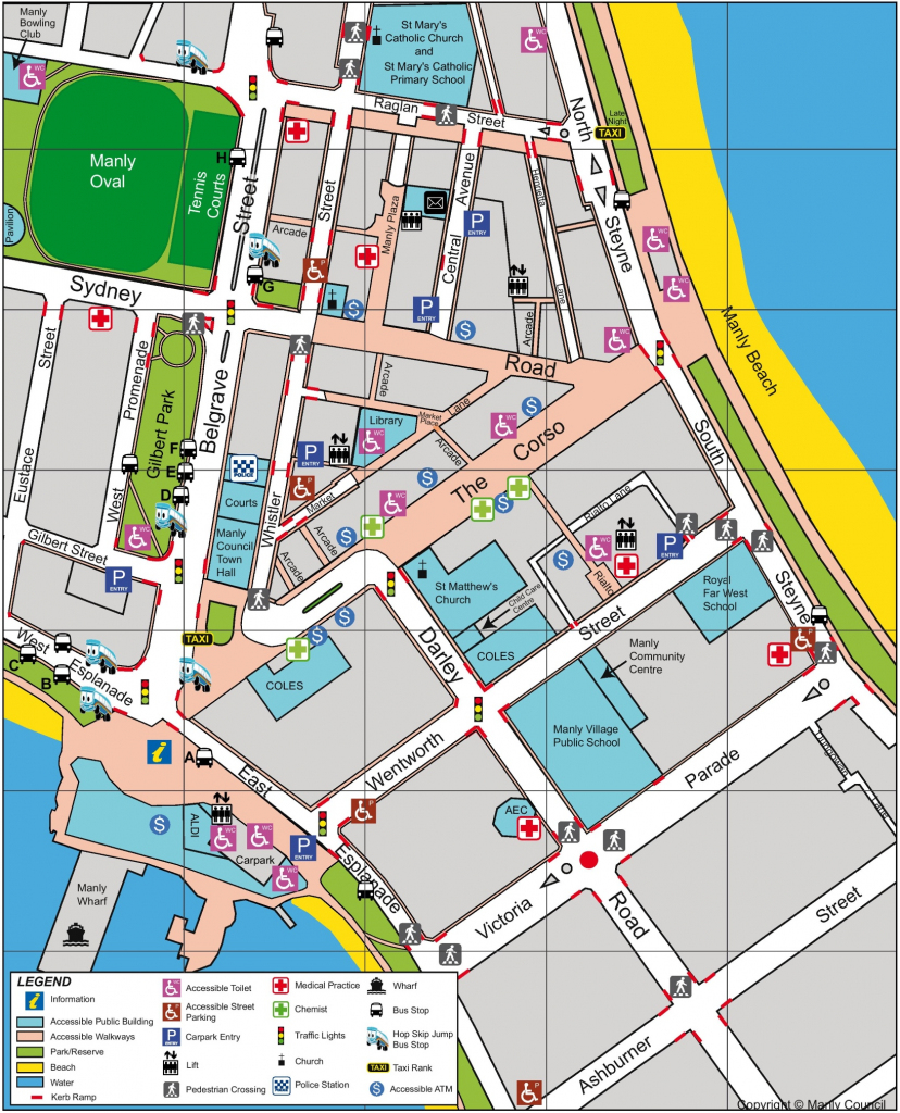Sydney Cbd Map throughout Sydney City Map Printable
