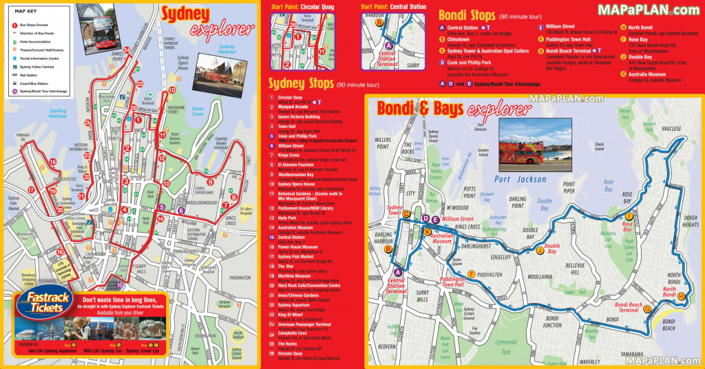Sydney Maps - Top Tourist Attractions - Free, Printable City Street Map regarding Sydney City Map Printable