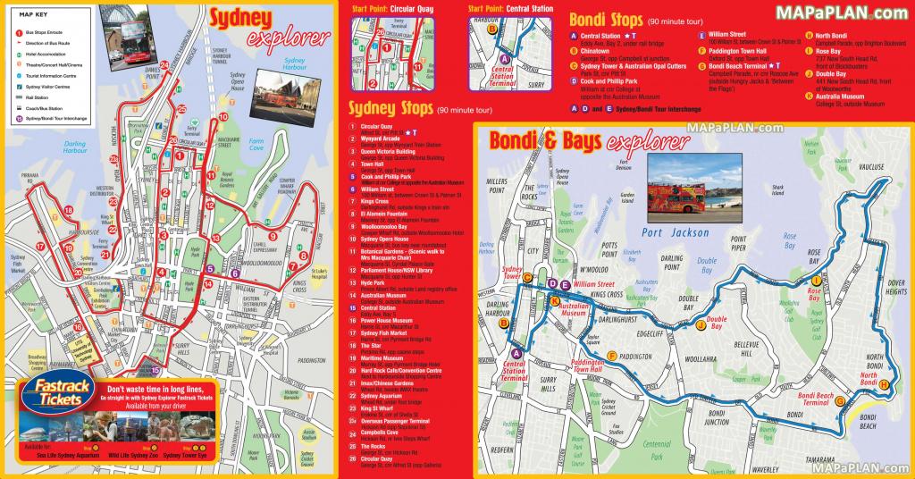 Sydney Maps - Top Tourist Attractions - Free, Printable City Street Map regarding Sydney City Map Printable