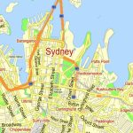 Sydney Vector Map Australia Exact Printable City Plan Editable Adobe Throughout Sydney City Map Printable