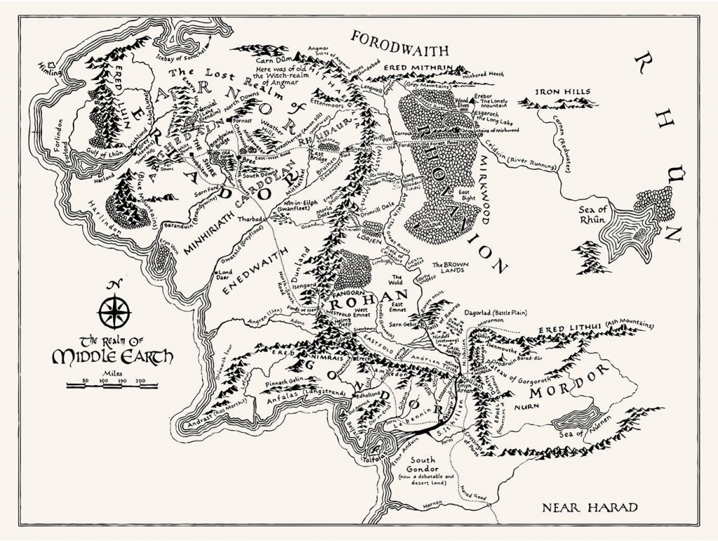 T16) - Middle Earth Map   Tattoos   Middle Earth Map, Middle Earth, Map within Printable Lord Of The Rings Map