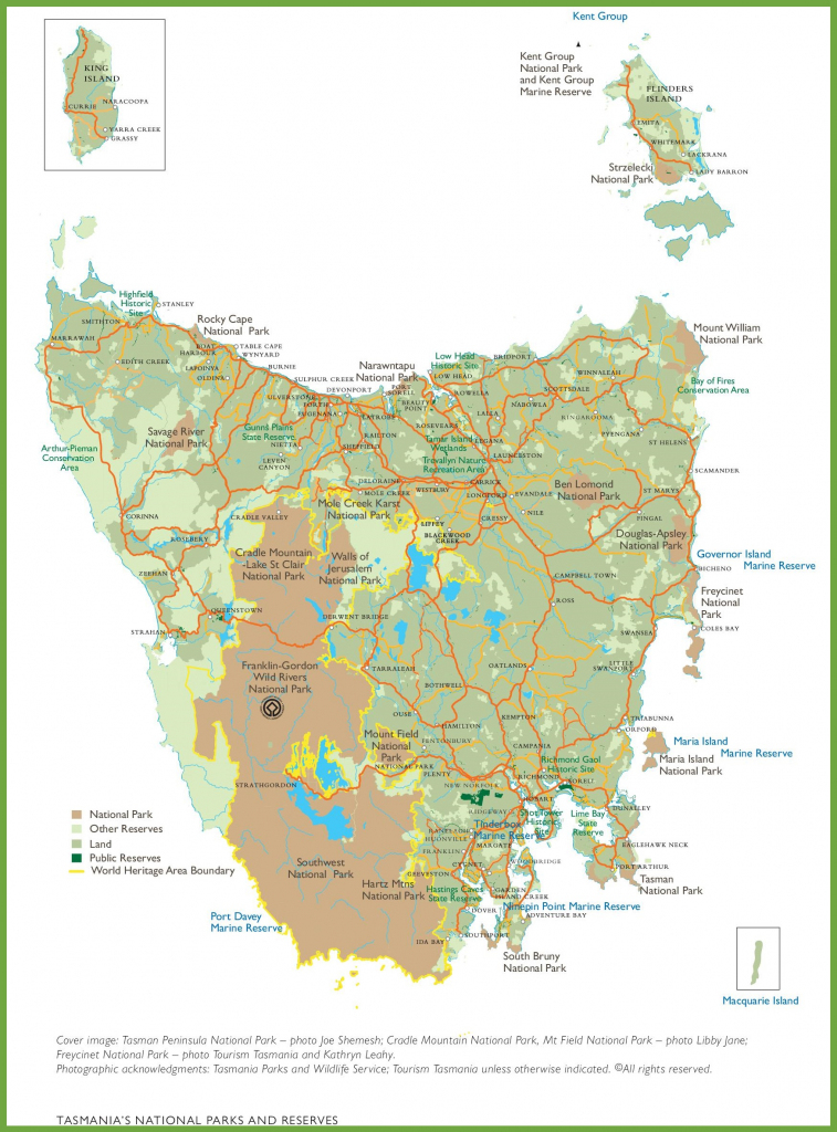 Tasmania Maps | Australia | Maps Of Tasmania (Tas) intended for Printable Map Of Tasmania