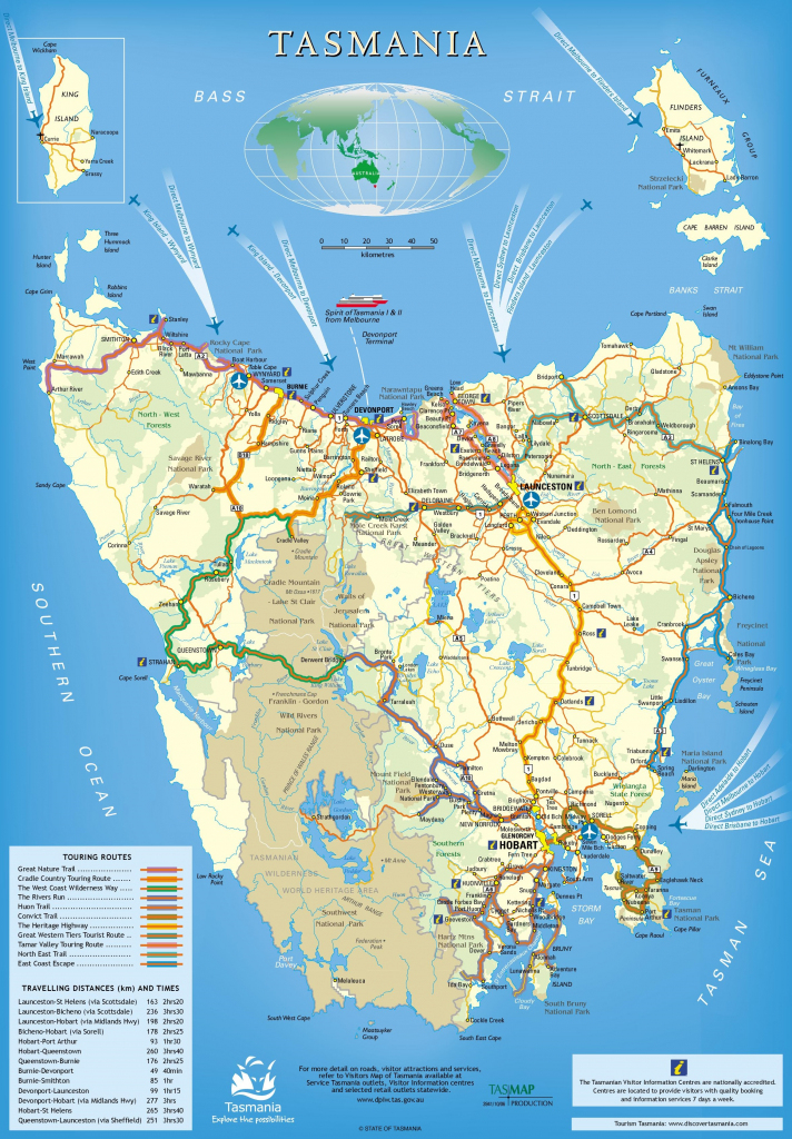 Tasmania Maps | Australia | Maps Of Tasmania (Tas) with Printable Map Of Tasmania