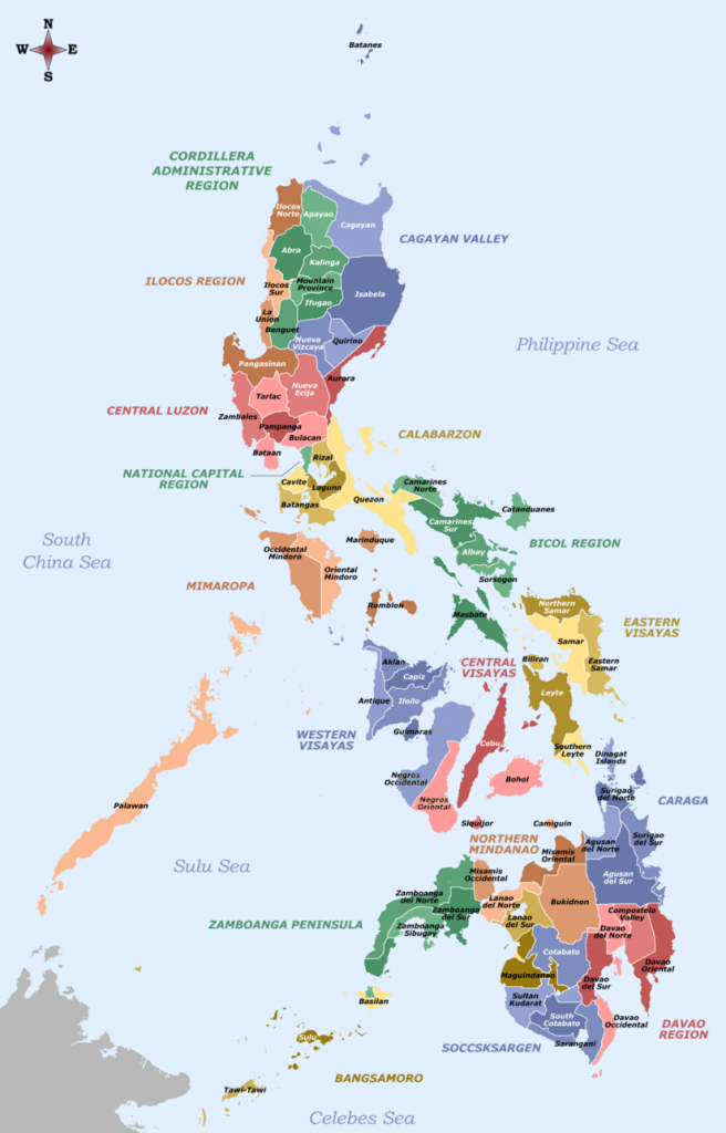 Template:provinces Of The Philippines Image Map - Wikipedia throughout Printable Quezon Province Map