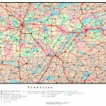 Tennessee Political Map With State Map Of Tennessee Printable