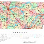 Tennessee Printable Map Intended For State Map Of Tennessee Printable