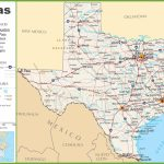 Texas Highway Map Regarding Printable Map Of Texas