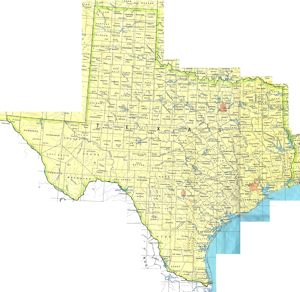 Texas Maps - Perry-Castañeda Map Collection - Ut Library Online pertaining to Printable Map Of Texas Cities And Towns